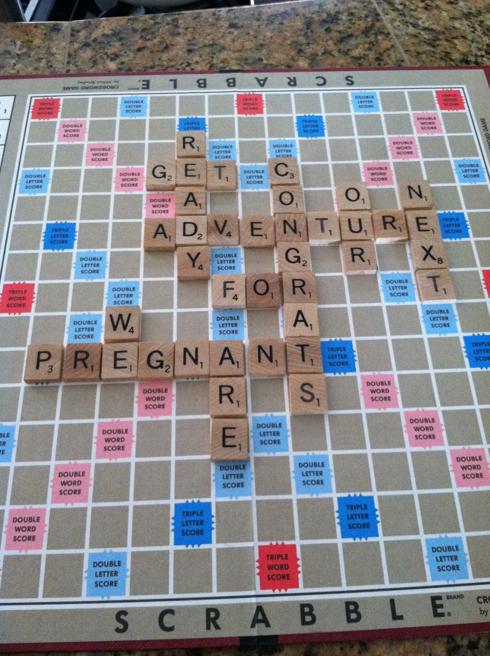 Baby Belly and Pregnancy Posts – Scrabble Baby Announcement