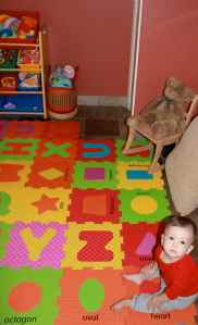First time in the playroom!