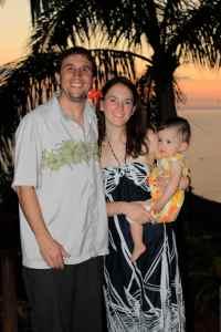 Family sunset shot
