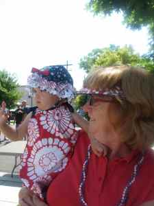Emma and Grandma at the Minden parade