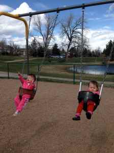 Fun on the swings