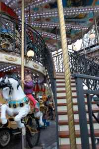 Two-story carousel at the Eiffel Tower