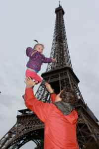 You're flying high at the Eiffel Tower; too much fun!