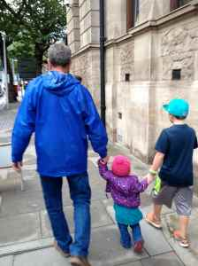 Exploring London with Papa and Kyle
