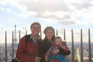 Family on top of the Arc