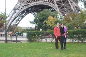 At bottom of Eiffel Tower