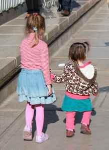 Fast friends on Arc de Triomphe