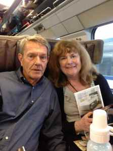 Nana and Papa on the train