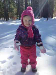 So happy to be playing in the snow.
