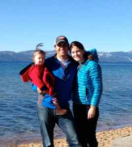 Family pose at the lake.