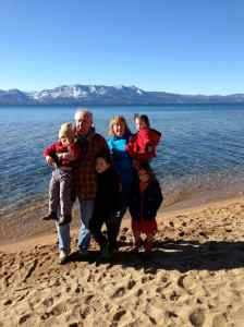 Lake time with Grandpa, Grandma, and your cousins.