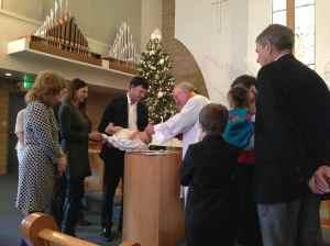 Cousin Liam's baptism